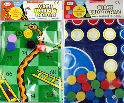 A To Z Giant Ludo Snakes & Ladders Fun Indoor Outdoor Game New-8063