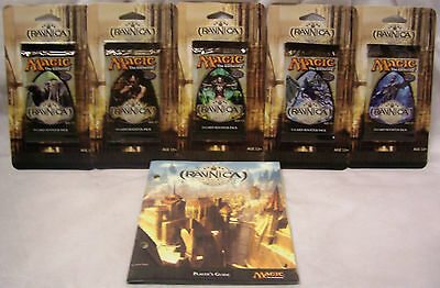Magic The Gathering MTG RAVNICA Booster Packs x5 (full set) + PLAYERS GUIDE-New