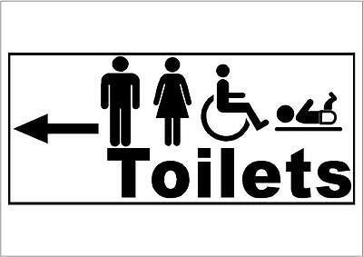 Toilet // Toilets Signs Stickers BBB002 Choice Of Directional Arrow