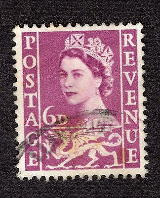 1958 Wales 6d SGW3 GOOD USED R36077
