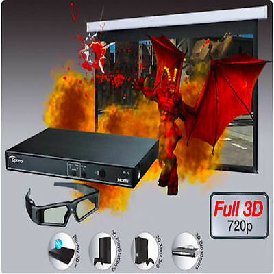 Optoma 3D-XL Projector Adapter Glasses Full HD Ready Converter Box For 3D Video