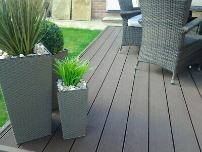 Composite Decking Boards 2.4m Length Hollow £10.43 Various Colours available
