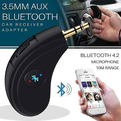 Bluetooth 4.0 Music Car Receiver Adapter CSR Built-in Dongle Mic Audio AUX 3.5MM