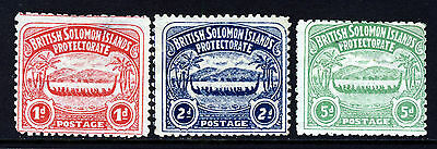 BRITISH SOLOMON ISLANDS 1907 Native Canoes Set SG 2 to SG 5 MINT