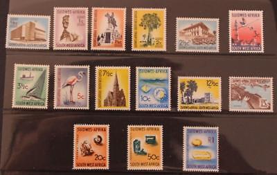 South West Africa SWA Namibia 1961-1963 Definative Set MNH SG171-185 15v
