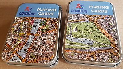 London A-Z Map Two Sets Of 52 Playing Cards (rf)