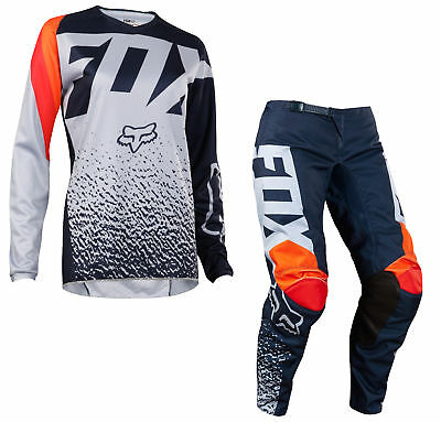 Fox Racing Kids Girls Grey/Orange 180 Race Dirt Bike Jersey & Pants Kit MX ATV