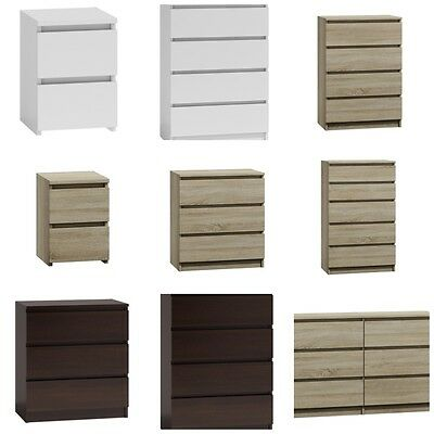 MODERNA - Chest Of Drawers And Bed Side Cabinet Range