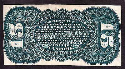 US 15c Fractional Currency Specimen FR1272 Grant/Sherman Green Back Ch CU