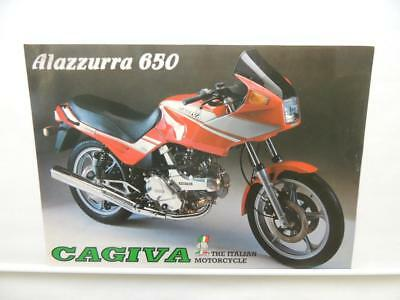 Cagiva Alazzurra 650 Motorcycle Brochure Manual Specifications L11391