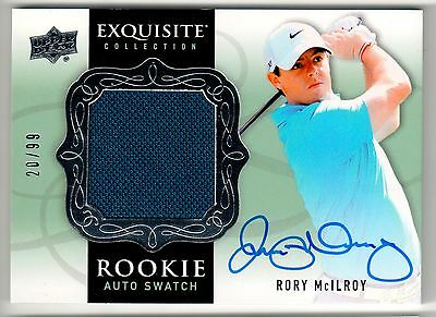 RORY McILROY 2014 Upper Deck Exquisite Rookie Patch Swatch Autograph /99 RPA