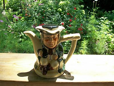"Tony Wood Staffordshire 4 1/2"" Toby Jug Teapot Small Creamer Pitcher"