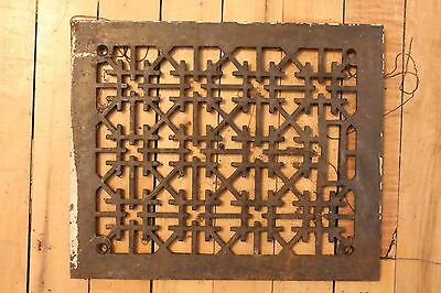 Antique Heavy Metal Labrynth Cast Iron Floor Heating Vent Grate Hardware Home