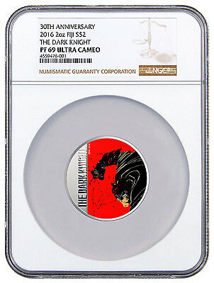 2016 Fiji Batman Dark Knight Returns 30th Av 2 oz Silver $2 NGC PF69 UC SKU48289
