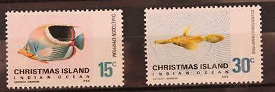 Australia Christmas Islands Fishes 2 Key Values 15c and 30c MNH