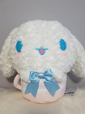 """Sanrio Cinnamoroll Plush Stuff Animal Toy in Cup 12"""" Tall - BRAND NEW with tag"""
