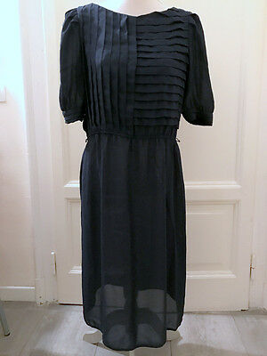 Abito blu vintage anni 80 vtg navy dress 80's