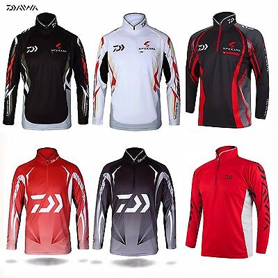 DAIWA New Style Fishing Shirt Long Sleeved Quick-Drying Breathable Anti-UV Fiber
