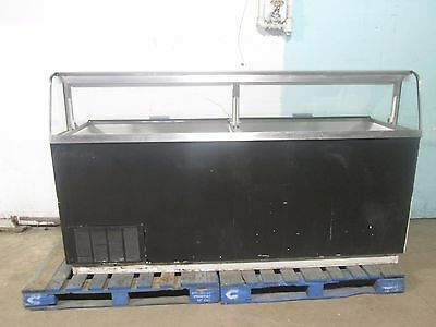 """Commercial Heavy Duty Lighted 16 Tubs 88""""w Ice Cream Dipping Cabinet Freezer"""