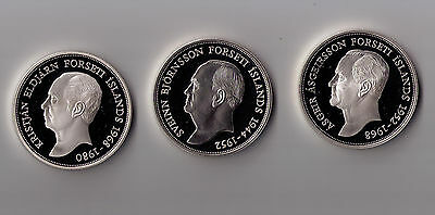 Iceland 1994 - Presidential silver proof coin set