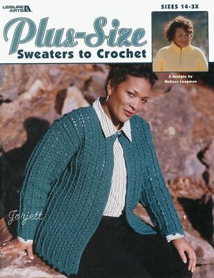 Plus Size Sweaters Jacket Pullovers Cardigans Crochet Patterns