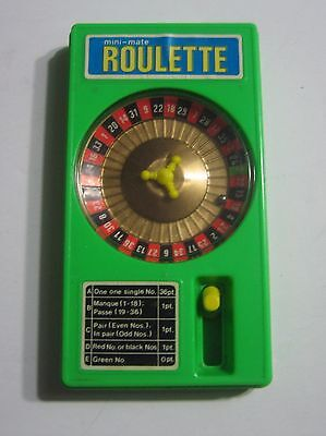 PORTABLE ROULETTE WHEEL Little Casino Game Works Great GAMBLING GAMES