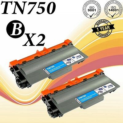 2PK TN750 Compatible To Brother DCP-8110DN HL5440DN 6180DW MFC-8510DN MFC8950DW
