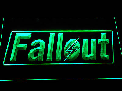 Fallout Bar LED Neon Sign with On/Off Switch Game Room Man Cave etc Display