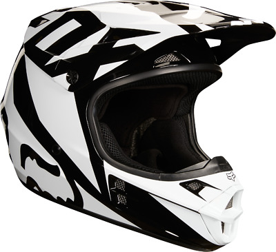 2018 Fox Mens MX V1 Race Helmet ECE Black