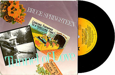 """Bruce Springsteen - Tunnel Of Love/Two For The Road - Oz 7""""45 Record Picslv 1987"""