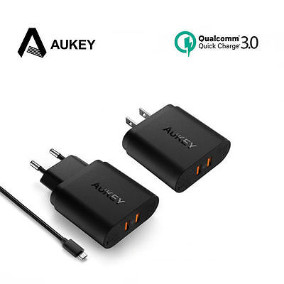 AUKEY PA-T16 2-Port USB Wall Charge With Quick Charge 3.0 & AiPower EU/US Plug