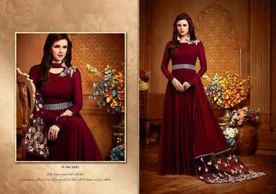 Ethnic Indian Heavy Work Embroidered Patiala Suit Pakistani Bridal Salwar Kameez