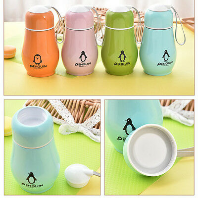 Lovely Stainless Steel Penguin Vacuum Cup Thermos Bottle Flask Cup Mug Kids