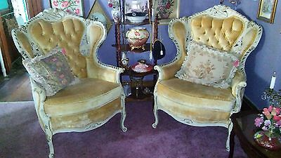 Pair French Provincial Louis XVI Chairs