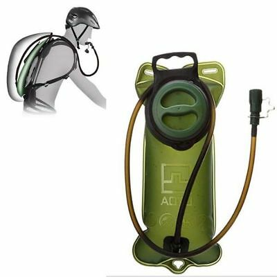 New 2L Water Bladder Bag Hydration Backpack Pack Hiking Camping Cycling Green