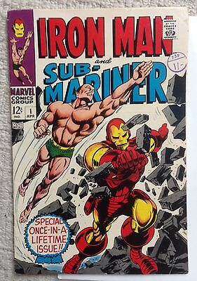 Iron Man and Sub-Mariner 1 1967 very nice condition rare book Marvel Comics
