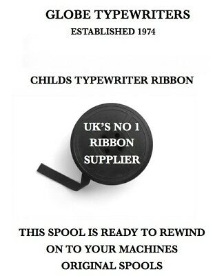 Petite Childs Typewriter Ribbon Fully Inked For Typewriters With Original Spools