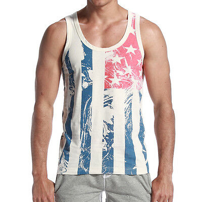SEOBEAN New Men's summer fashion cotton solid  tank top sports Vest