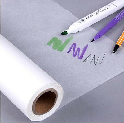 50M*30CM Super Transparent Draft Sketch Butter Paper Tracing Paper Roll White