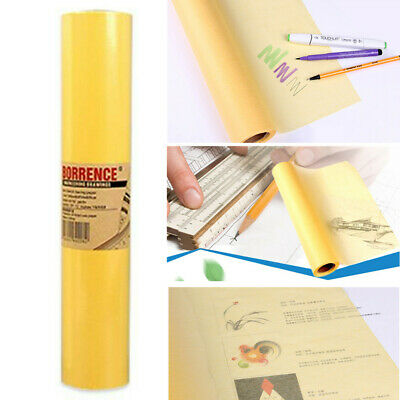 50M*60CM Super Transparent Draft Sketch Butter Paper Tracing Paper Roll Yellow