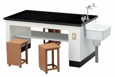 1/12 science room of desks and chairs Japan #R1694 F/S