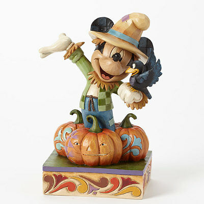 Disney*SCARECROW MICKEY MOUSE*Jim Shore*NEW*Pumpkin*HALLOWEEN*Harvest*4039066