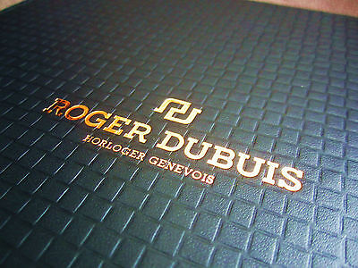 ROGER DUBUIS WATCH COLLECTION 2014 - 2015 Stunning Gold Binded Brochure Book.