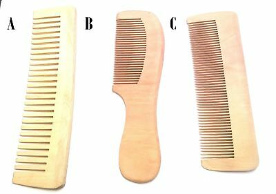 Pettine in Legno Naturale Wave Varie Forme. Wooden Comb
