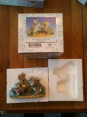 "FITZ AND FLOYD CHARMING TAILS ""AN ABUNDANCE OF LOVE"" FIGURE - New"