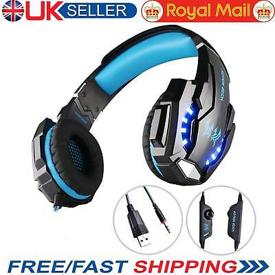 3.5mm Gaming Headset PS4 MIC LED Headphones Surround for PC Laptop Mac Xbox One