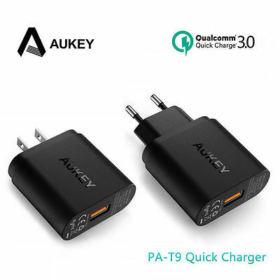 AUKEY Dual USB Port Travel Charger With Qualcomm Quick Charge 3.0 EU/ US Plug