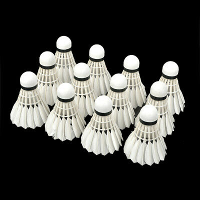 Profession Badminton Goose Feather Shuttlecocks Durable WMY02830  (12 PCS)