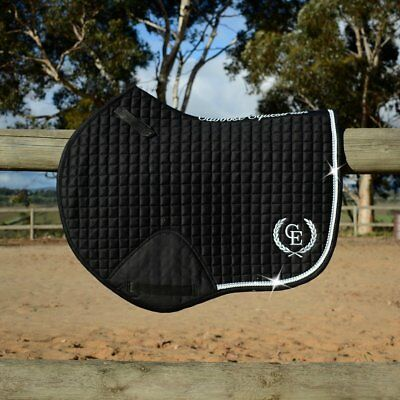 Caboose Equestrian Signature Deluxe Close Contact Jump Saddle Pad - Black