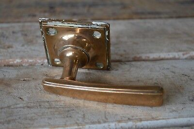 Vintage Art Deco Copper / Brass Reclaimed Door Handle